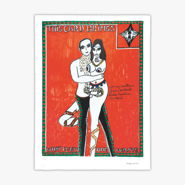 dorothy-iannone-this-card-brings-what-every-one-wants-lithograph-jrp-editions-contemporary-art
