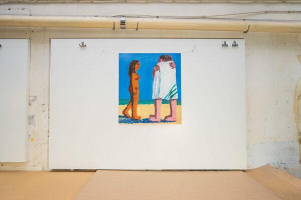 beach-towel-todd-bienvenu-galerie-sebastien-bertrand-jrp-editions-lithograph-contemporary-artist-arprint-paris