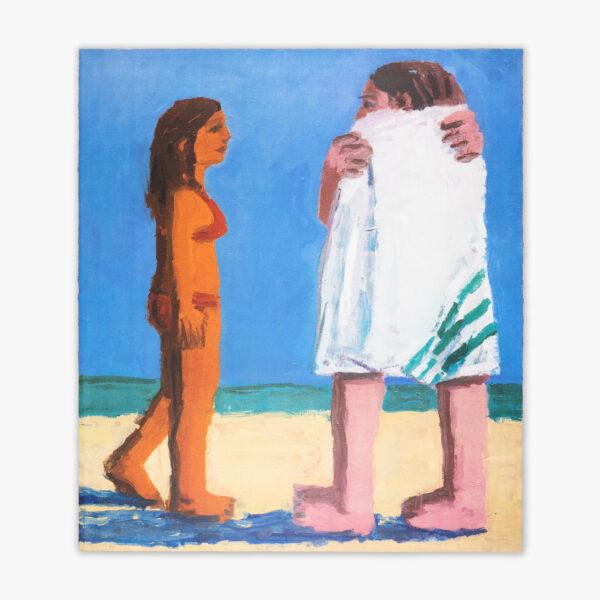 beach-towel-todd-bienvenu-galerie-sebastien-bertrand-jrp-lithograph